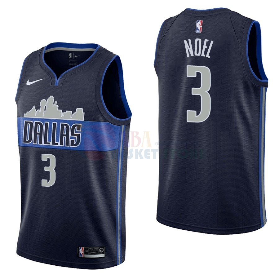 Maillot NBA Dallas Mavericks NO.3 Nerlens Noel Noir Statement