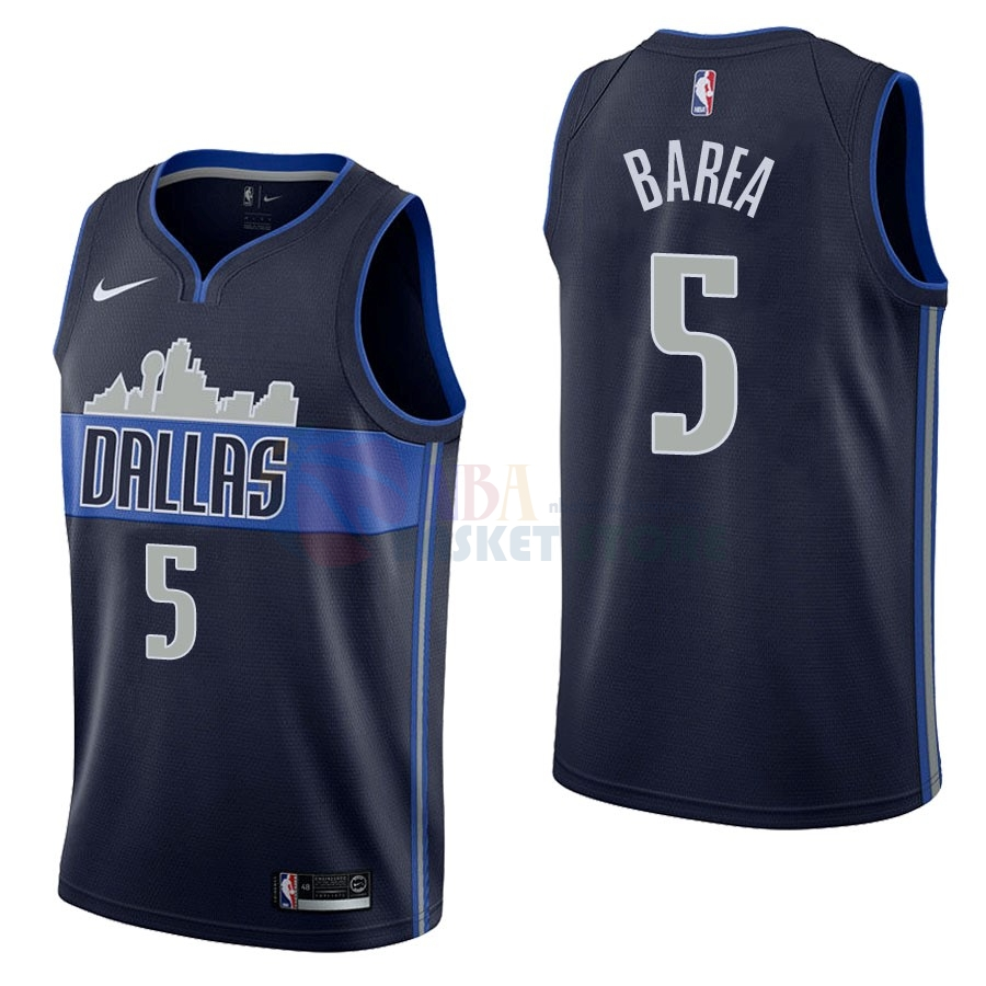 Maillot NBA Dallas Mavericks NO.5 J.J. Barea Noir Statement 2017-18