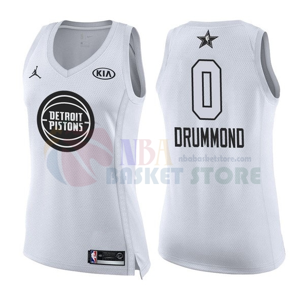 Maillot NBA Femme 2018 All Star NO.0 Andre Drummond Blanc
