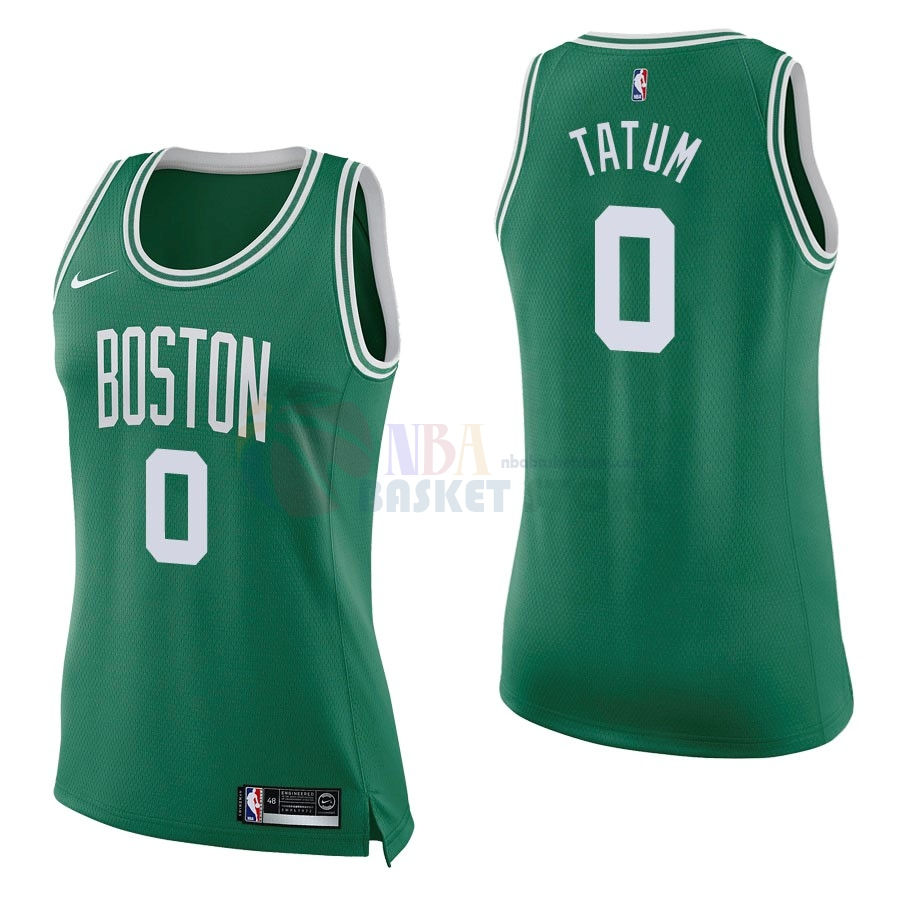 Maillot NBA Femme Boston Celtics NO.0 Jayson Tatum Vert Icon 2017-18