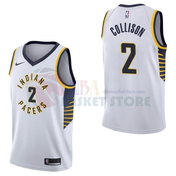 Maillot NBA Indiana Pacers NO.2 Darren Collison Blanc Association 2017-18