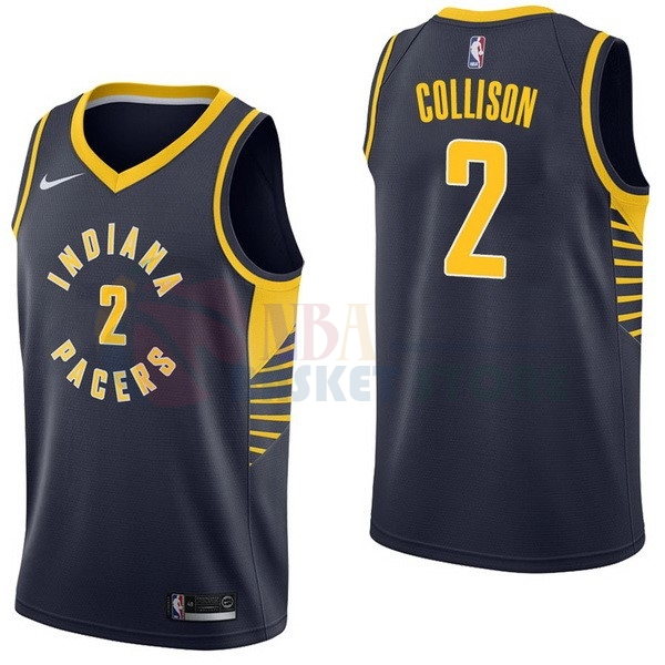 Maillot NBA Indiana Pacers NO.2 Darren Collison Marine Icon 2017-18