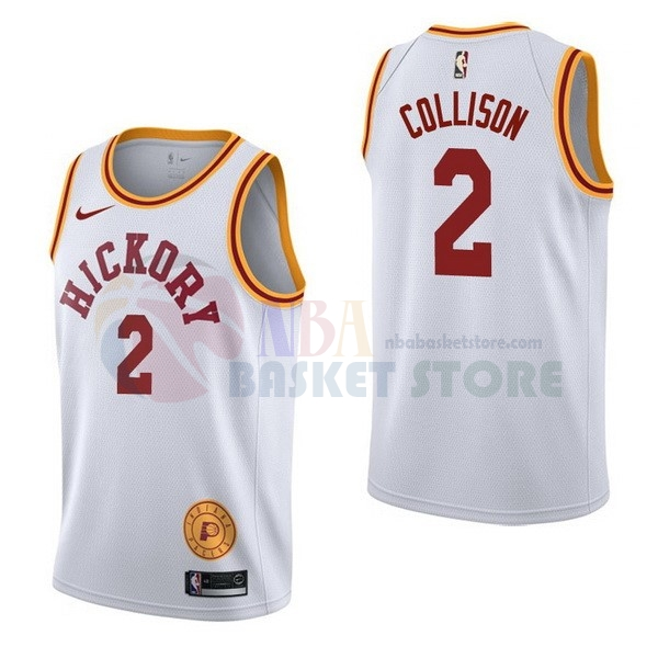 Maillot NBA Indiana Pacers NO.2 Darren Collison Retro Blanc 2017-18