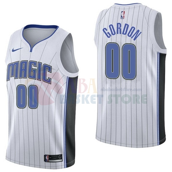 Maillot NBA Orlando Magic NO.0 Aaro Gordon Blanc Association 2017-18