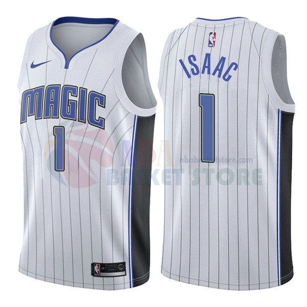 Maillot NBA Orlando Magic NO.1 Jonathan Isaac Blanc Association 2017-18