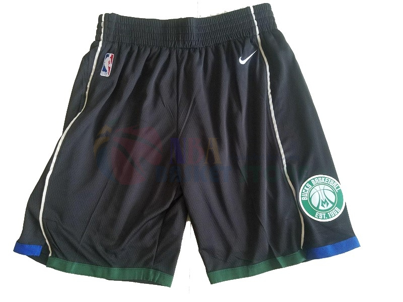 Pantalon Basket Milwaukee Bucks Nike Noir