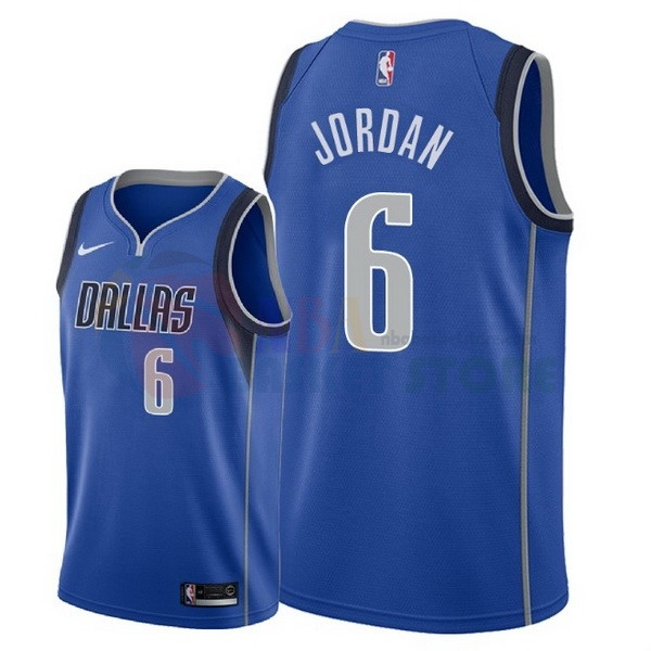Maillot NBA Dallas Mavericks NO.6 Deandre Jordan Bleu Icon 2018