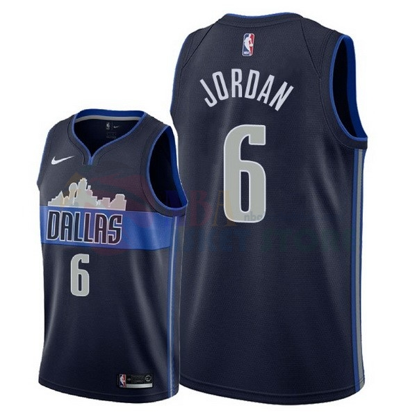 Maillot NBA Dallas Mavericks NO.6 Deandre Jordan Noir Statement 2018