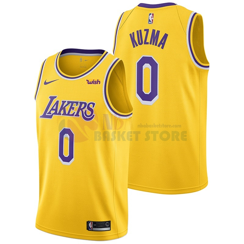 Maillot NBA Los Angeles Lakers NO.0 Kyle Kuzma Jaune 2018-19