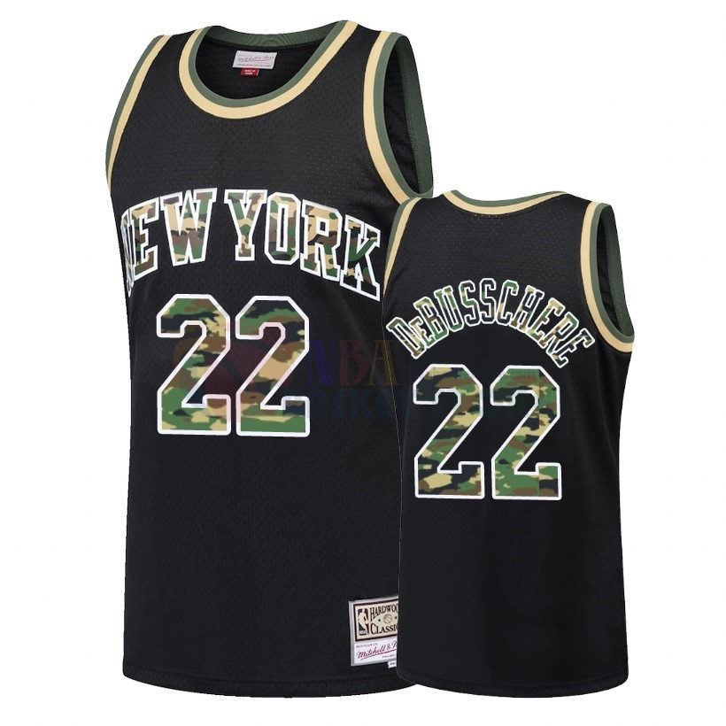 Maillot NBA Camo Feu Droit New York Knicks NO.22 Dave Debusschere Noir 2018