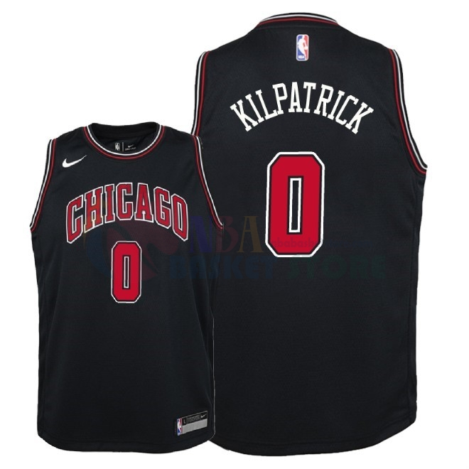 Maillot NBA Enfant Chicago Bulls NO.0 Sean Kilpatrick Noir Statement 2018