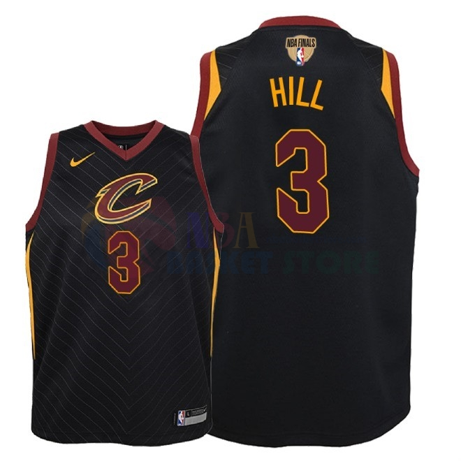 Maillot NBA Enfant Cleveland Cavaliers 2018 Finales Champions NO.3 George Hill Noir Statement Patch