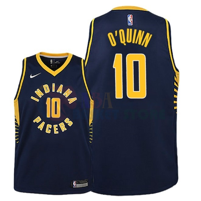 Maillot NBA Enfant Indiana Pacers NO.10 Kyle O'Quinn Marine Icon 2018-19