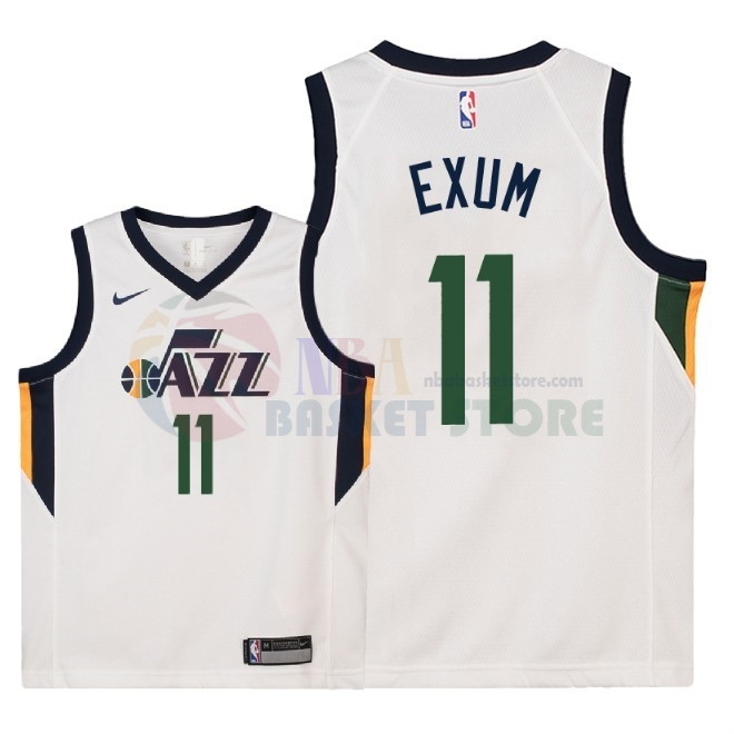 Maillot NBA Enfant Utah Jazz NO.11 Dante Exum Blanc Association 2018