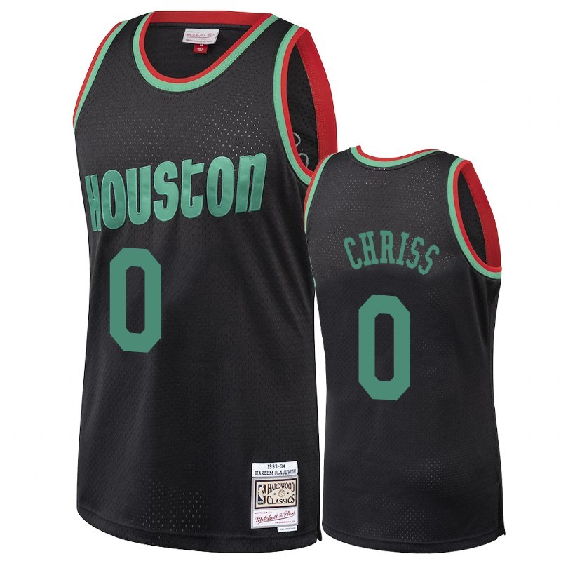 Maillot NBA Houston Rockets 2018 Noël NO.0 Marquese Chriss Retro Noir