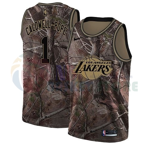 Maillot NBA Los Angeles Lakers NO.1 Kentavious Caldwell Pope Camo NBA Swingman Collection Realtree 2018