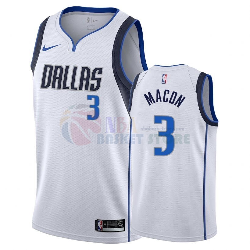 Maillot NBA Nike Dallas Mavericks NO.3 Daryl Macon Blanc Association 2018