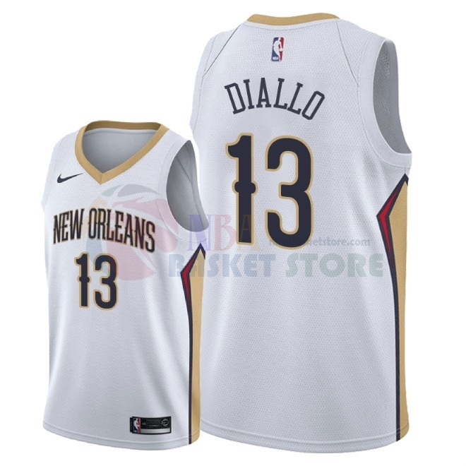 Maillot NBA Nike New Orleans Pelicans NO.13 Cheick Diallo Blanc Association 2018