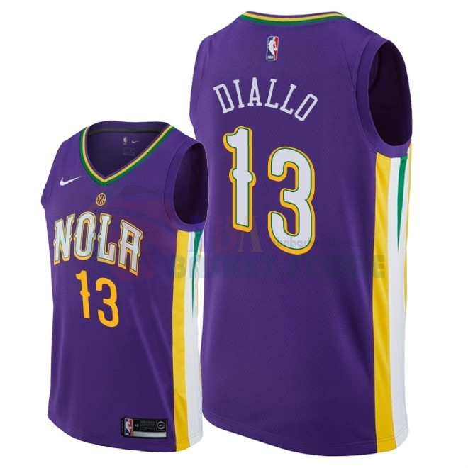 Maillot NBA Nike New Orleans Pelicans NO.13 Cheick Diallo Nike Pourpre Ville 2018