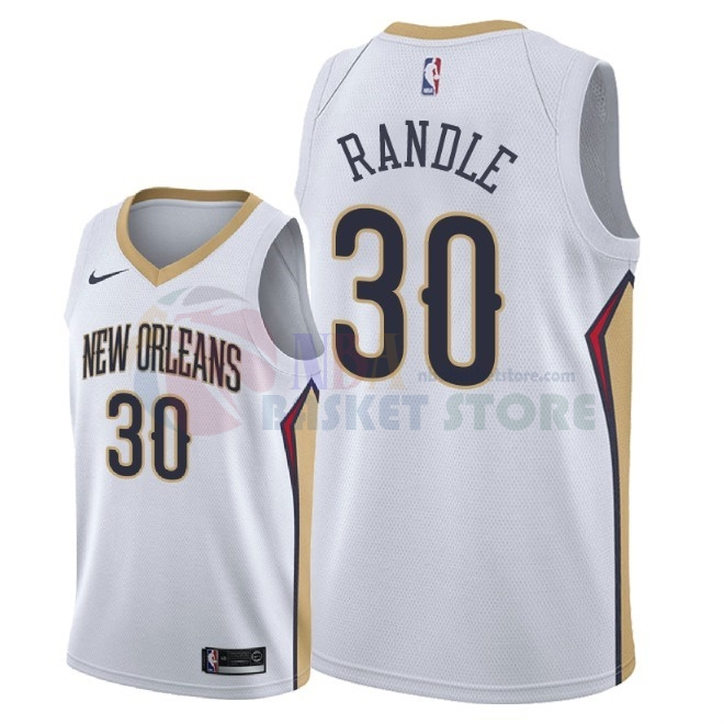Maillot NBA Nike New Orleans Pelicans NO.30 Julius Randle Blanc Association 2018