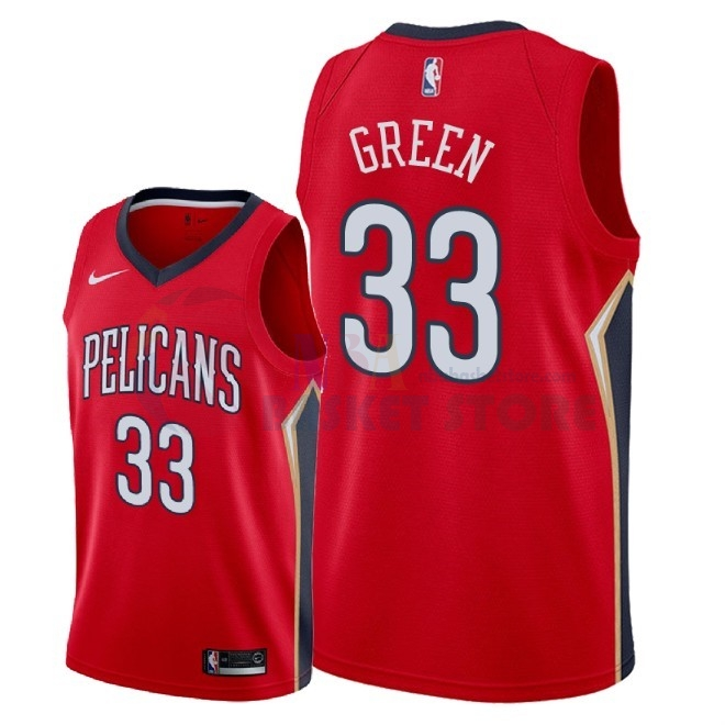 Maillot NBA Nike New Orleans Pelicans NO.33 Garlon Green Rouge Statement 2018