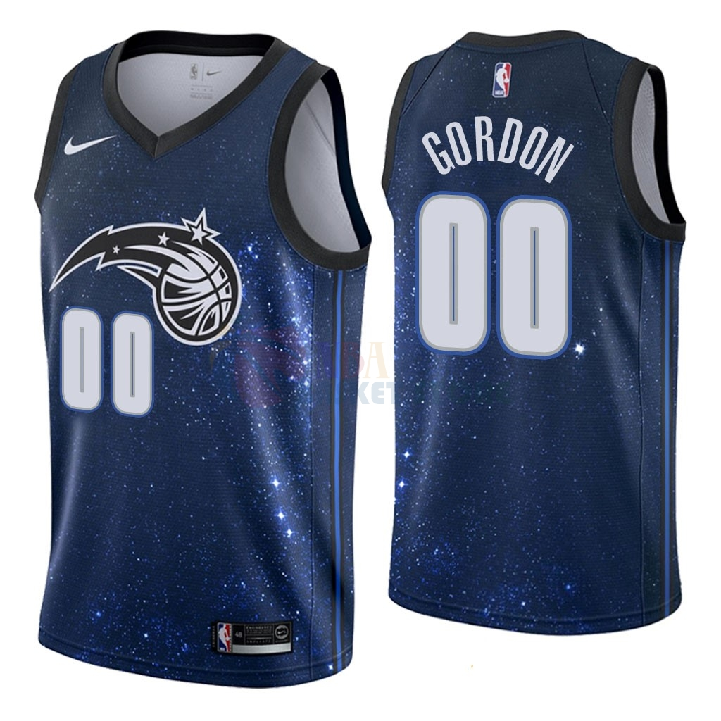 Maillot NBA Nike Orlando Magic NO.0 Aaron Gordon Nike Marine Ville 2018