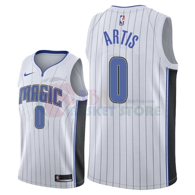 Maillot NBA Nike Orlando Magic NO.0 Jamel Artis Blanc Association 2018