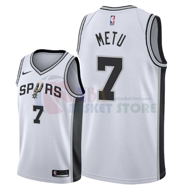 Maillot NBA Nike San Antonio Spurs NO.7 Chimezie Metu Blanc Association 2018