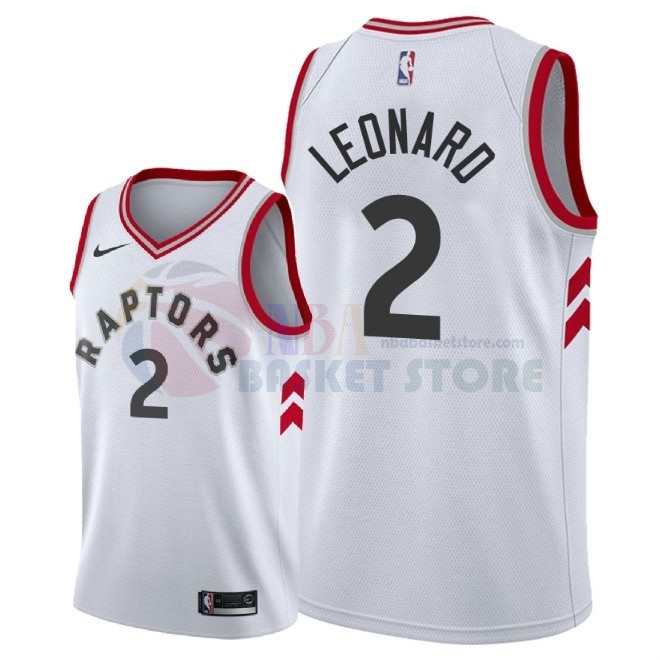 Maillot NBA Nike Toronto Raptors NO.2 Kawhi Leonard Blanc Association 2018