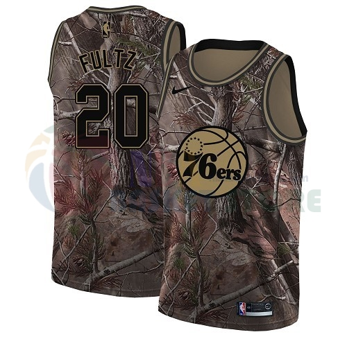 Maillot NBA Philadelphia Sixers NO.20 Markelle Fultz Camo NBA Swingman Collection Realtree 2018