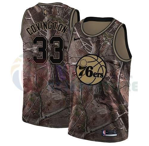 Maillot NBA Philadelphia Sixers NO.33 Robert Covington Camo NBA Swingman Collection Realtree 2018