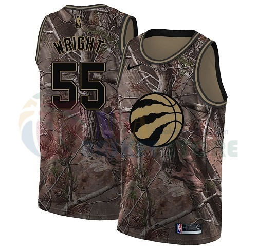 Maillot NBA Toronto Raptors NO.55 Delon Wright Camo NBA Swingman Collection Realtree 2018
