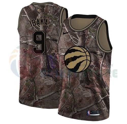 Maillot NBA Toronto Raptors NO.9 Serge Ibaka Camo NBA Swingman Collection Realtree 2018
