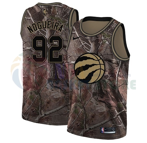 Maillot NBA Toronto Raptors NO.92 Lucas Nogueira Camo NBA Swingman Collection Realtree 2018