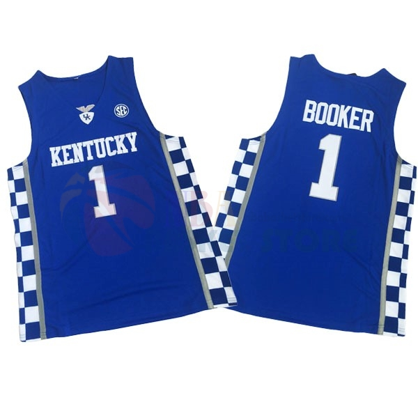 Maillot NCAA Kentucky NO.1 Devin Booker Bleu