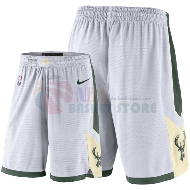 Pantalon Basket Milwaukee Bucks Nike Blanc 2018