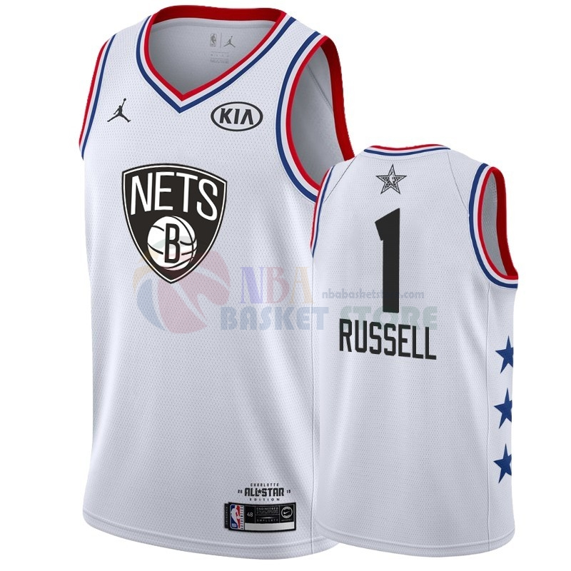 Maillot NBA 2019 All Star NO.1 Dangelo Russell Blanc