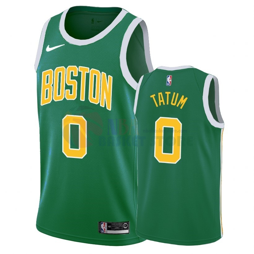 Maillot NBA Earned Edition Boston Celtics NO.0 Jayson Tatum Vert 2018-19