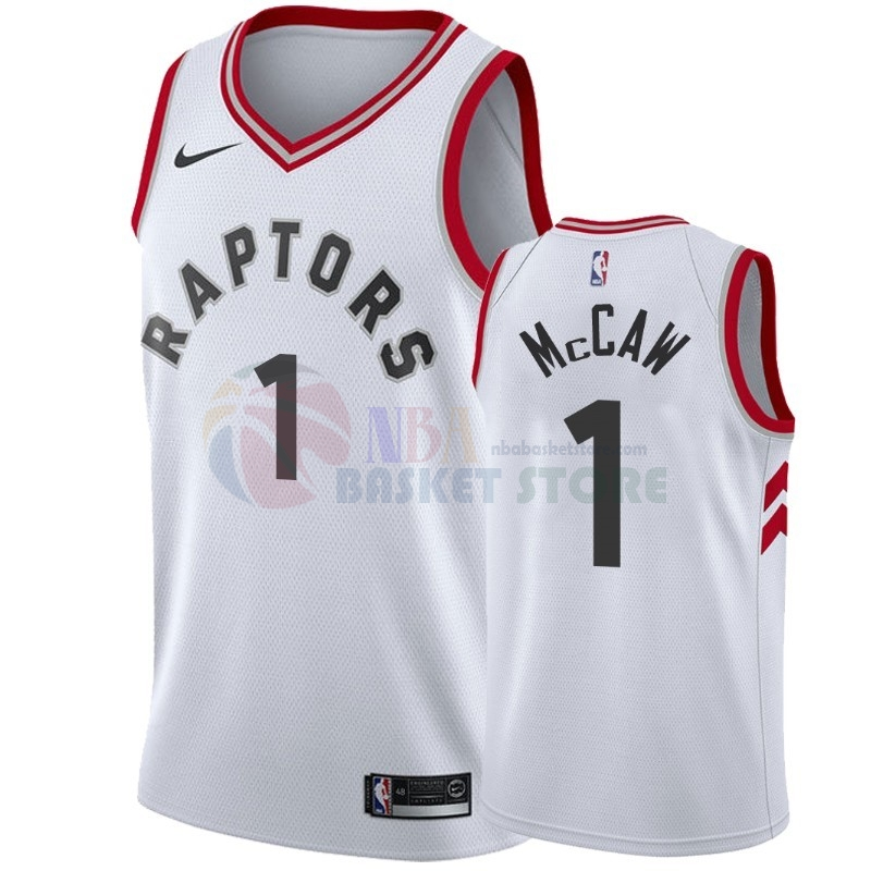 Maillot NBA Nike Toronto Raptors NO.1 Patrick Mccaw Blanc Association 2018-19