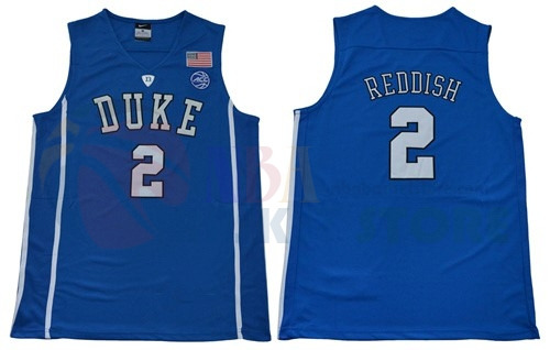 Maillot NCAA Duke NO.2 Cameron Reddish Bleu