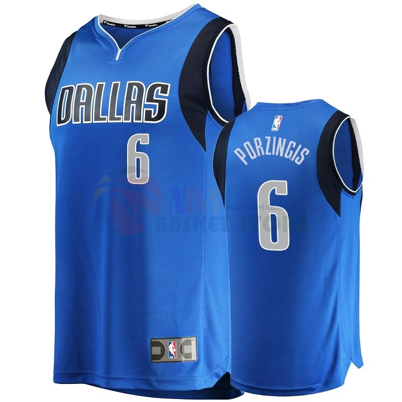 Maillot NBA Nike Dallas Mavericks NO.6 Kristaps Porzingis Bleu Icon