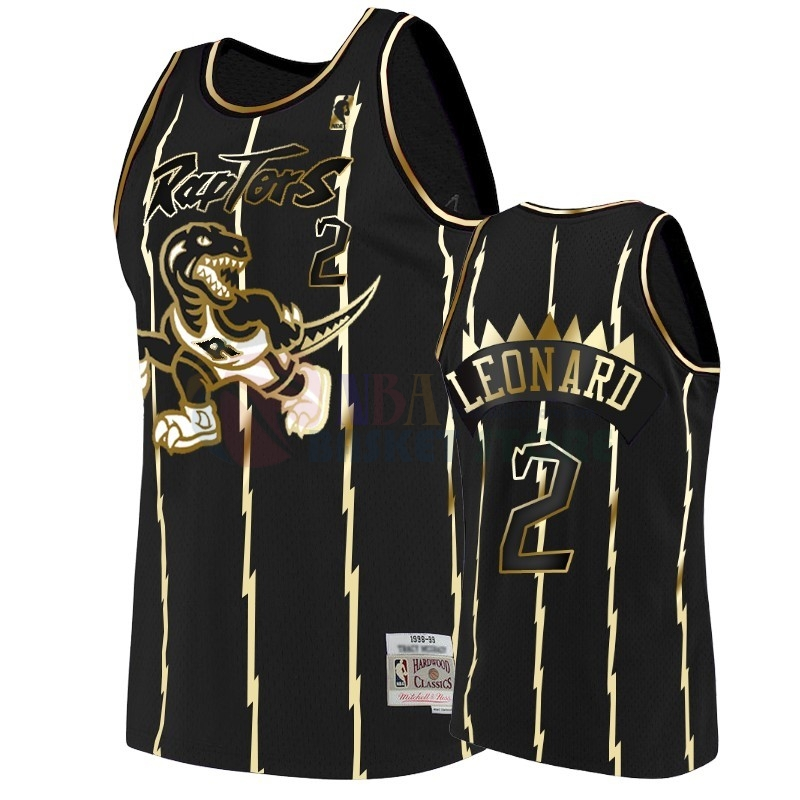 Maillot NBA Nike Toronto Raptors NO.2 Kawhi Leonard Or Edition