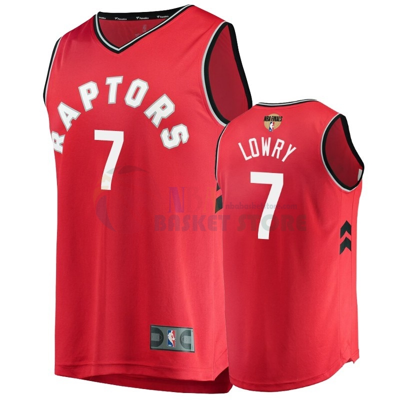 Maillot Toronto Raptors 2019 NBA Finales NO.7 Kyle Lowry Rouge Icon