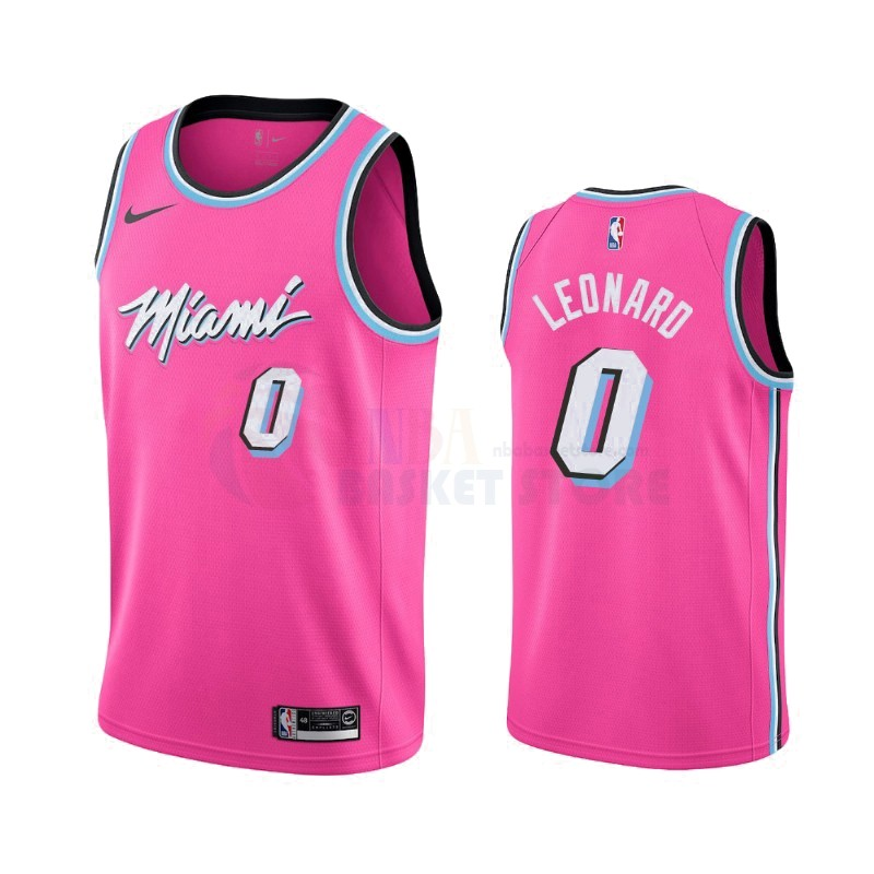 Achat Maillot Earned Edition Miami Heat NO.0 Meyers Leonard Nike Rosa 2019-20