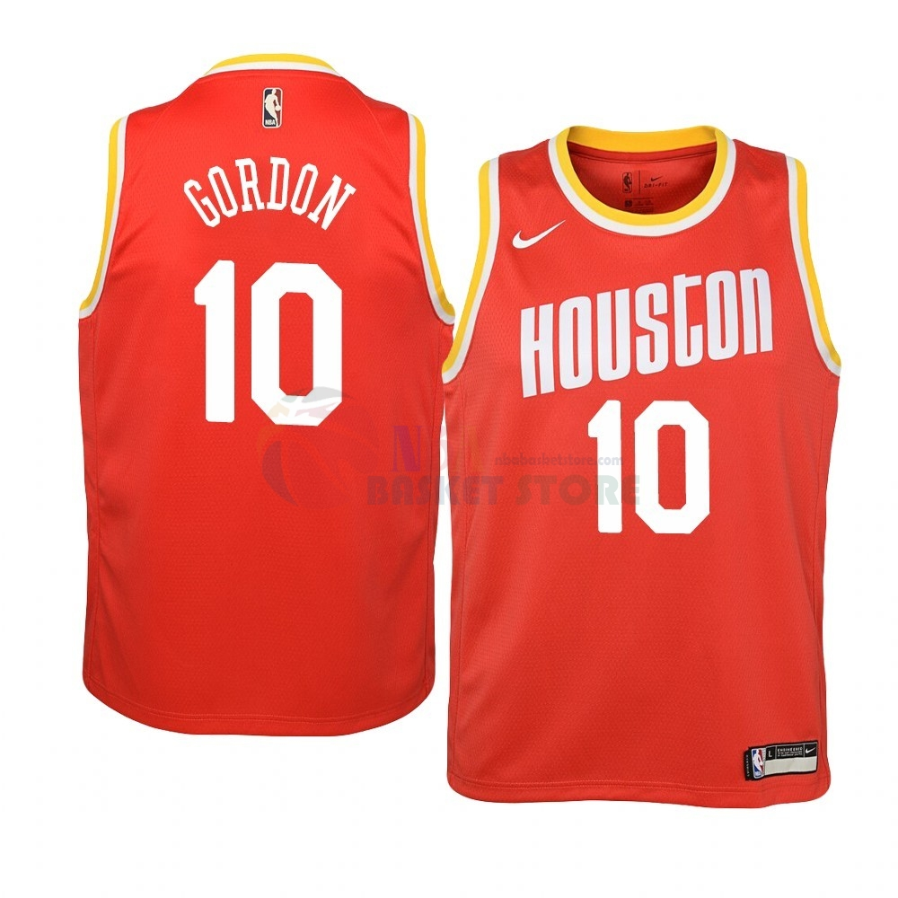 Maillot NBA Houston Rockets NO.10 Eric Gordon Orange Hardwood Classics 2019-20