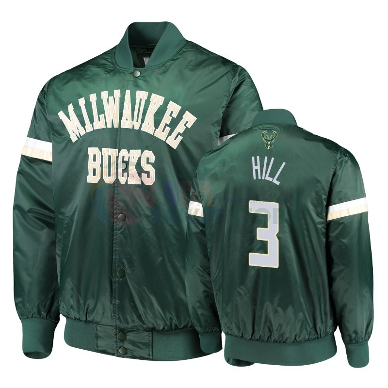 Survetement NBA Milwaukee Bucks NO.3 George Hill Vert