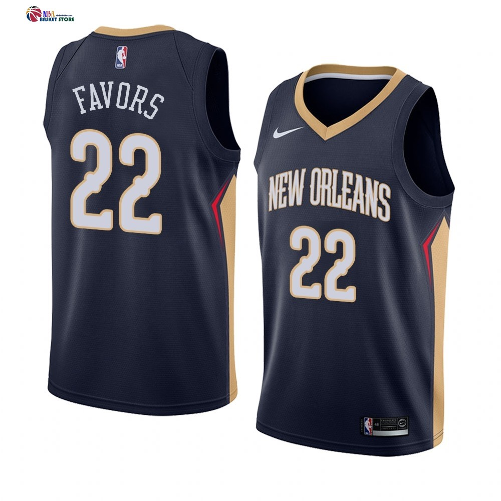 Maillot NBA Nike New Orleans Pelicans NO.22 Derrick Favors Marine Icon 2019-20