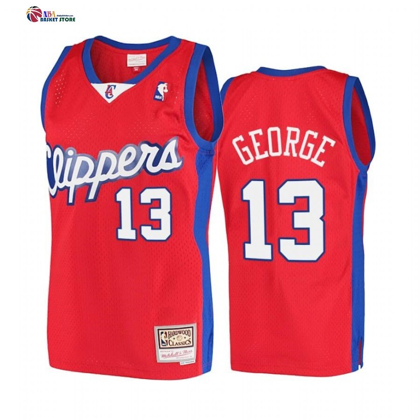 Maillot NBA Los Angeles Clippers NO.13 Paul George Rouge Hardwood Classics 2001-02
