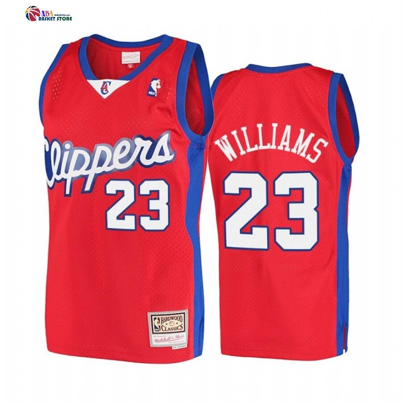 Maillot NBA Los Angeles Clippers NO.23 Lou Williams Rouge Hardwood Classics 2001-02