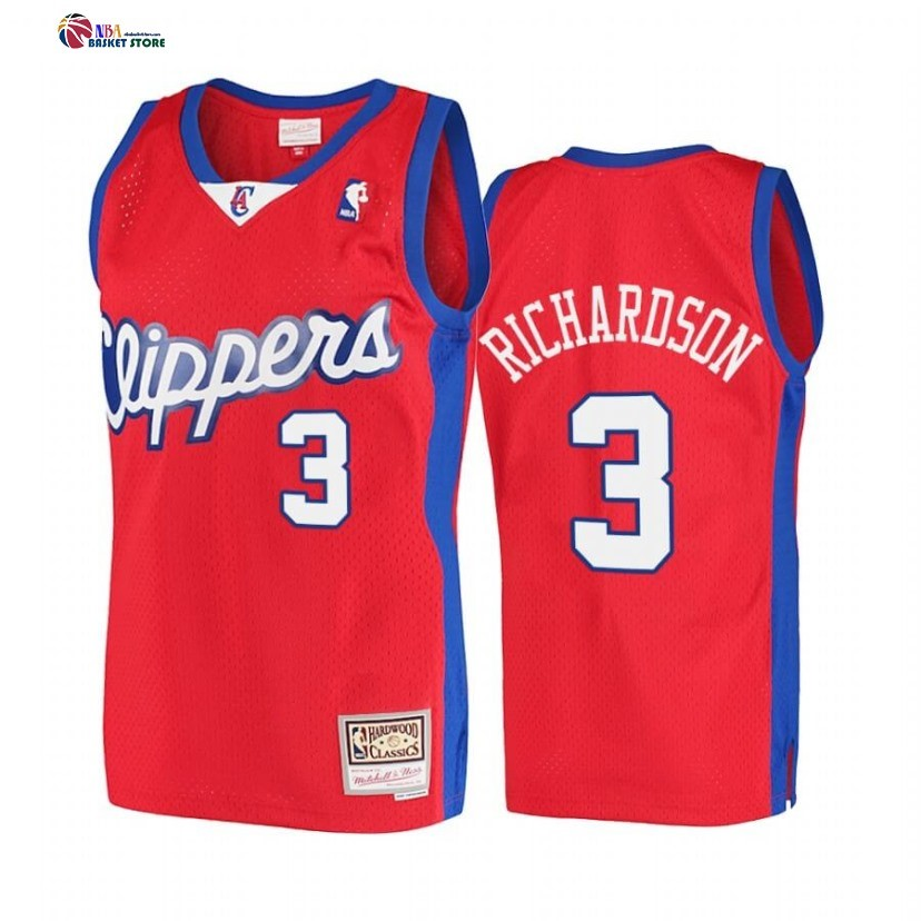 Maillot NBA Los Angeles Clippers NO.3 Quentin Richardson Rouge Hardwood Classics 2001-02
